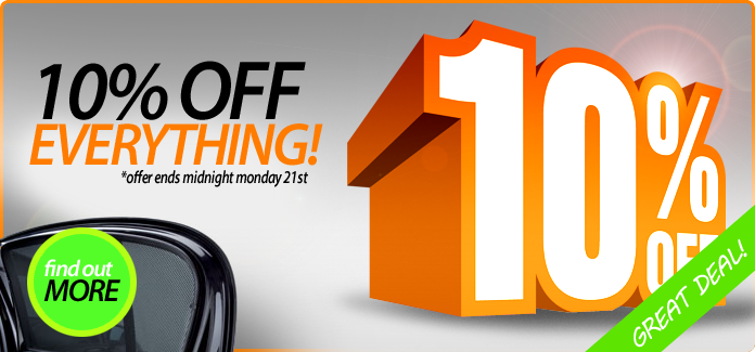 10% off till midnight Monday 21st April