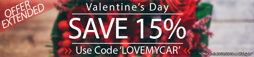 Save 15% by using the code Â'LOVEMYCARÂ' at the checkout