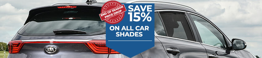 Save 15% on all Car Shades - End of Season Sale!