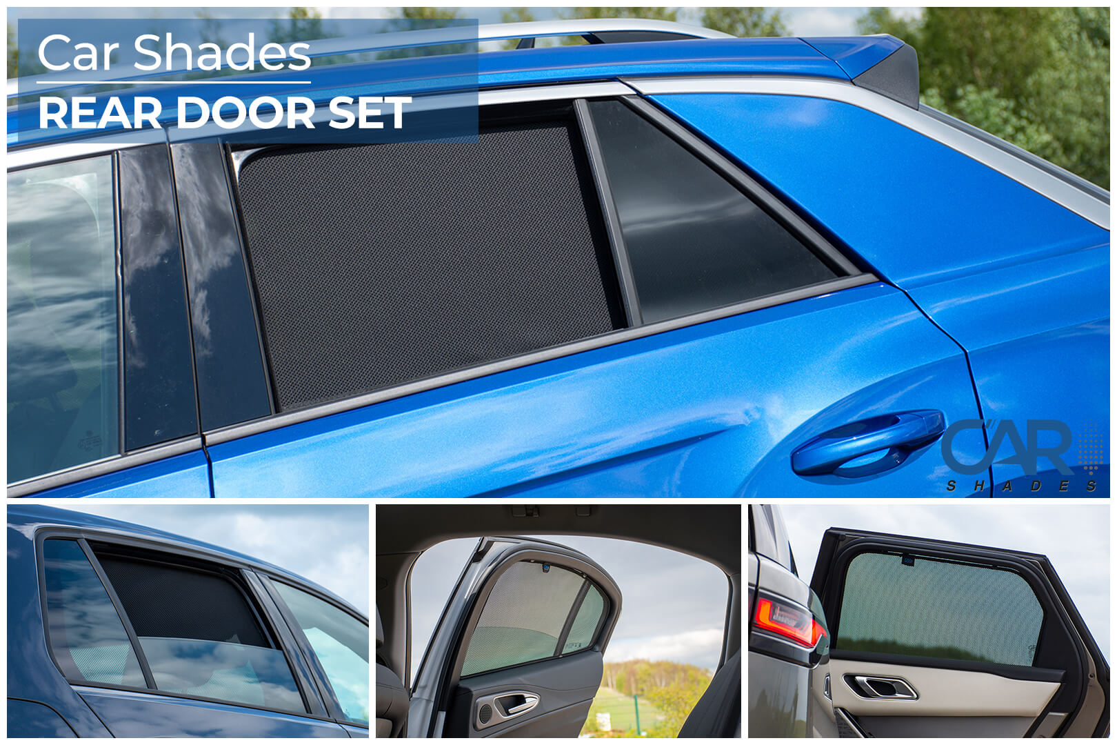 Car Shades - Rear Door Set