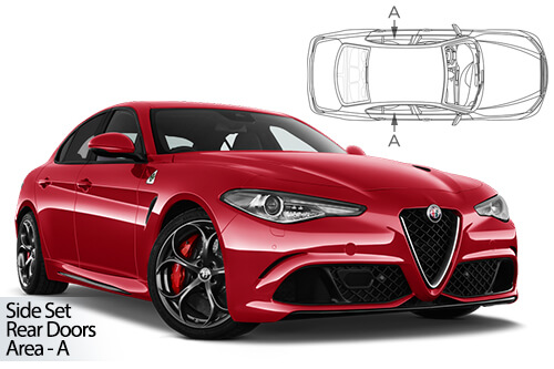 UV Car Shades Alfa Romeo Giulia 4dr 2015> Rear Door Set