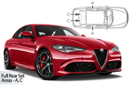 UV Car Shades Alfa Romeo Giulia 4dr 2015> Full Rear Set