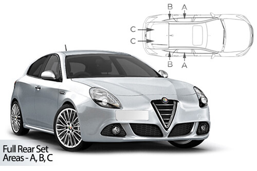 UV Privacy Car Shades (Set of 4) Alfa Romeo Giulietta 5dr  10>
