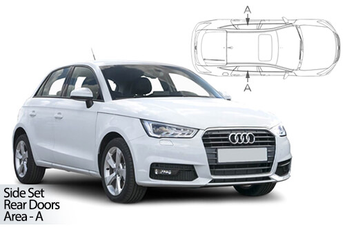 UV Car Shades - Audi A1 5Dr 10-18 Rear Door Set