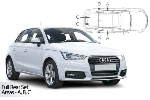 Car Shades Audi A1 (Typ 8X) 5 door 10> Full Rear Set