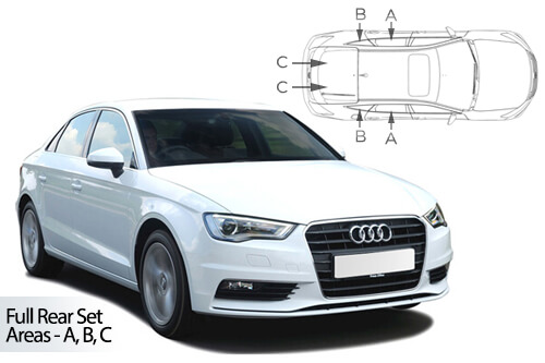 UV Privacy Car Shades (Set of 6) Audi A3 4dr 12>