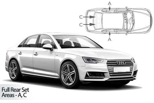 Car Shades Audi A4  (B9) 4 door 15> Full Rear Set