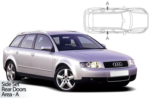 UV Car Shades - A4 Avant 2001-08 - Rear Door Set