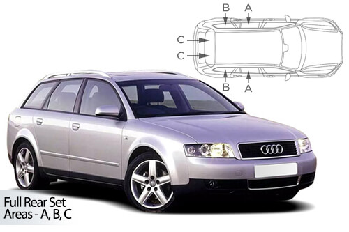 Car Shades Audi A4 (B6 & B7) Avant 01-08 Full Rear Set