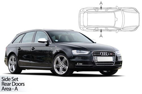 UV Privacy Car Shades - Audi A4 Avant 08-15 Rear Door Set