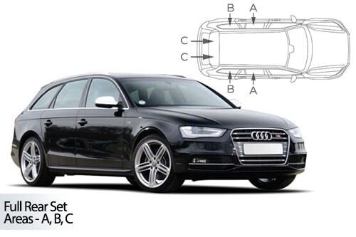 UV Privacy Car Shades - Audi A4 Avant 08-15 Full Rear Set