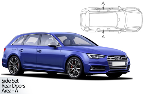 UV Car Shades - Audi A4 Avant B9 2015> Rear Door Set