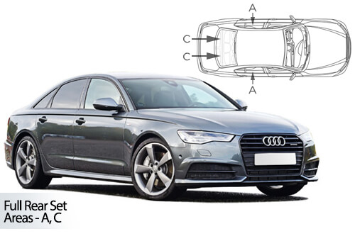 UV Privacy Car Shades (Set of 6) Audi A6 4dr 11-18