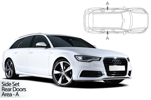 UV Privacy Car Shades - Audi A6 Avant 11-18 Rear Door Set