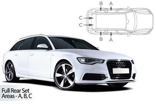UV Privacy Car Shades - Audi A6 Avant 11-18 Full Rear Set