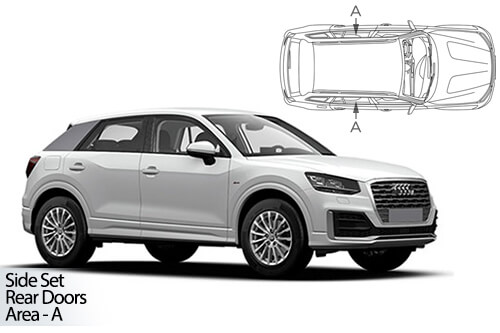 UV Car Shades - Audi Q2 5dr 2016> Rear Door Set