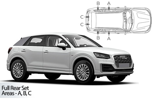 Car Shades Audi Q2 5 Door	16> Full Rear Set