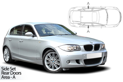 UV Privacy Car Shades - BMW 1 Series 5dr E87 04-11 Rear Door Set