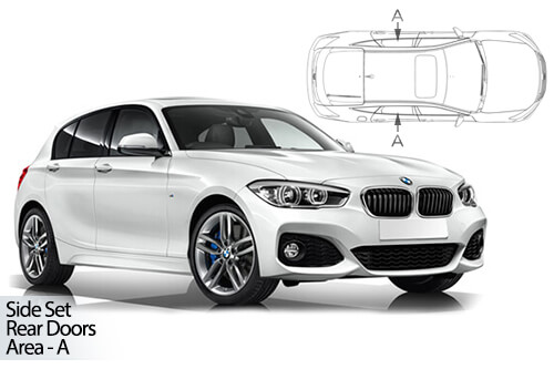 UV Car Shades - BMW 1 Series 5dr F20 11-19 Rear Door Set