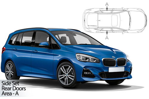 UV Car Shades - BMW 2 Series Grand Tourer F46 14> Rear Door Set