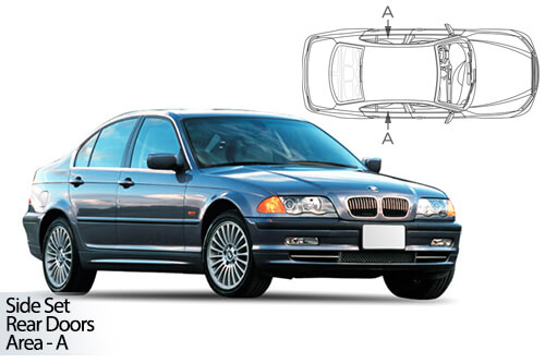 UV Car Shades - BMW 3 Series E46 4dr 98-05 Rear Door Set