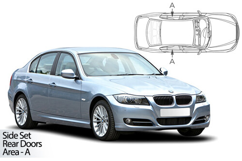 UV Car Shades - BMW 3 Series E90 4dr 05-12 Rear Door Set