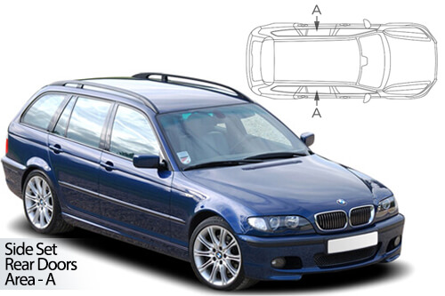 Car Shades BMW 3 Series (E46) Estate 98-05 Rear Door Set