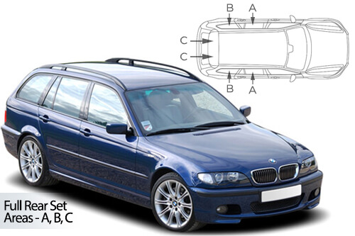 Car Shades BMW 3 Series ( E46 ) Estate 98-05 Full Rear Set