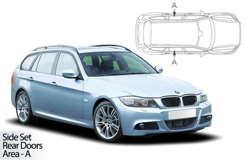 UV Car Shades - BMW 3 Series E91 Touring 05-12 Rear Door Set