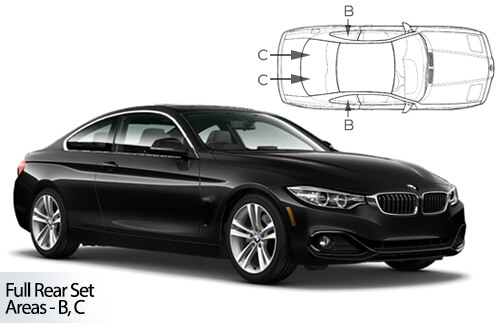 UV Car Shades (Set of 4) BMW 4 Series  F32 2dr Coupe 2014>