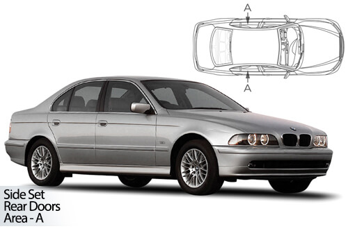 Car Shades BMW 5 Series (E39) 4dr 95-03 Rear Door Set