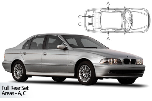 Car Shades BMW 5 Series ( E39 ) 4dr 95-03 Full Rear Set