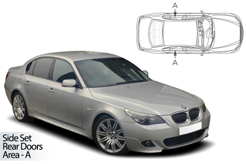 UV Privacy Car Shades - BMW 5 Series E60 4dr 04-10 Rear Door Set