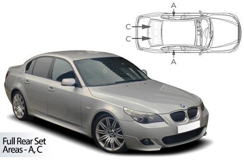 UV Privacy Car Shades (Set of 6) BMW 5 Series E60 4dr 04-10