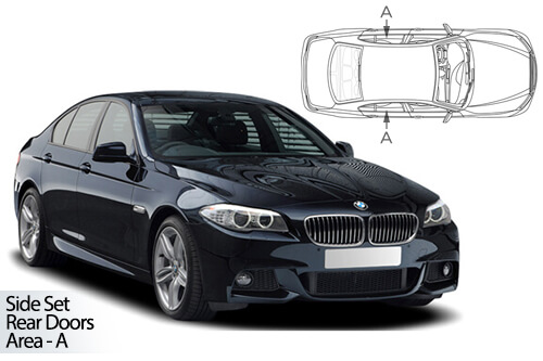 UV Car Shades - BMW 5 Series F10 4dr 10-17 Rear Door Set