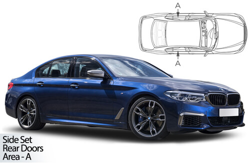 Car Shades BMW 5 Series (G30) 4 door 2017> Rear Door Set