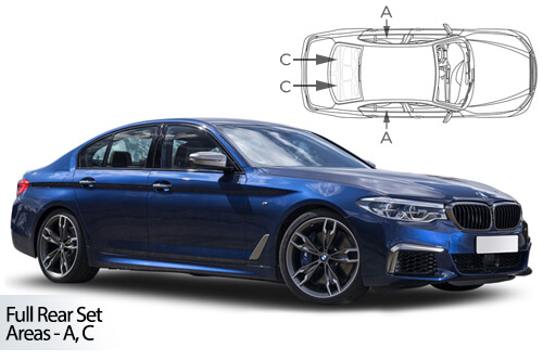 UV Car Shades (Set of 6) BMW 5 Series G30 4dr 2017>