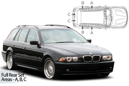 Car Shades BMW 5 Series (E39) Estate/Touring 95-03 Full Rear Set