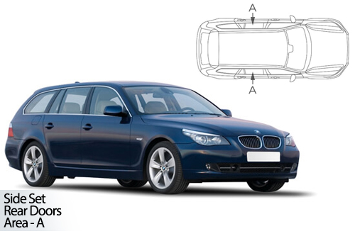 UV Car Shades - BMW 5 Series E61 Touring 04-10 Rear Door Set