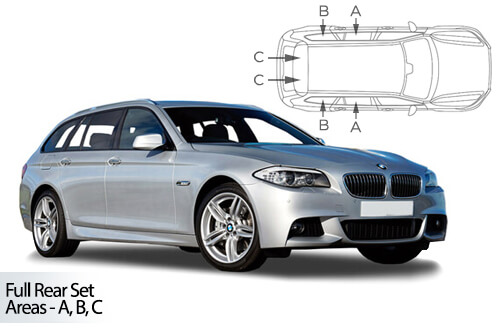 UV Car Shades - BMW 5 Series F11 Touring 10-17 Full Rear Set