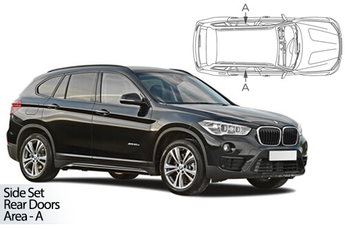 Car Shades - BMW X1 F48 2015> Rear Door Set