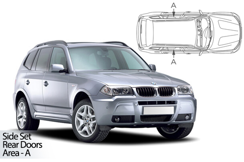 UV Privacy Car Shades - BMW X3 E83 5dr 03-10 Rear Door Set