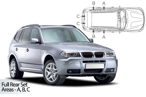 UV Privacy Car Shades - BMW X3 E83 5dr 03-10 Full Rear Set