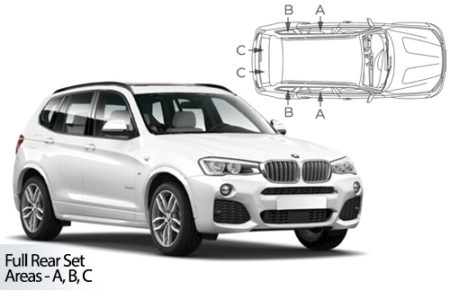 UV Privacy Car Shades - BMW X3 F25 5dr 10-17 Full Rear Set