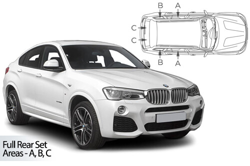 Car Shades BMW X4 (F26) 5 Door 14-18 Full Rear Set