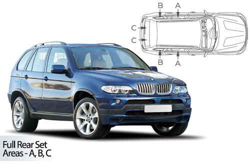 UV Privacy Car Shades (Set of 6) BMW X5 E53 5dr 1999-06