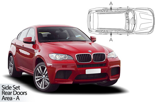 UV Privacy Car Shades - BMW X6 E71 5dr 08-14 Rear Door Set