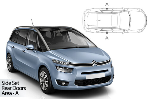 UV Car Shades - Citroen C4 Grande Picasso 14> Rear Door Set
