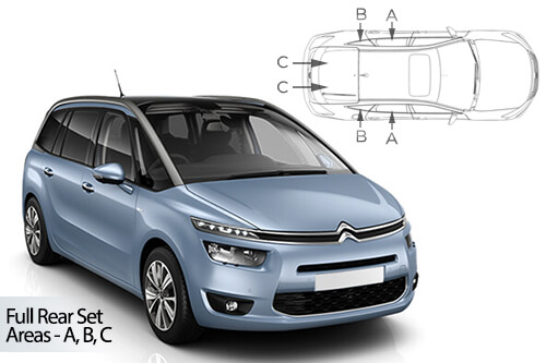 Car Shades Citroen C4 Grande Picasso	5 Door 14> Full Rear Set