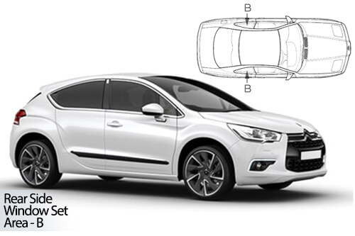 Car Shades Citroen DS4 5dr 10-18 Rear Door Set